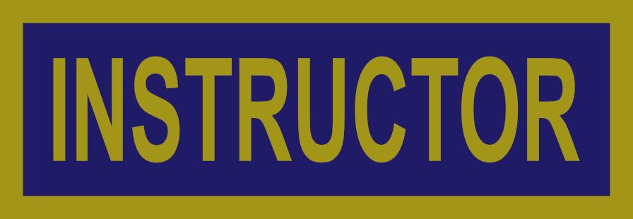 EMT Instructor Patch